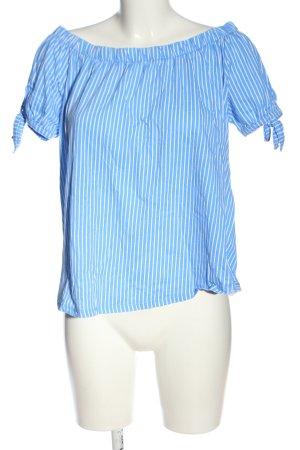 H&M L.O.G.G. Carmen-Bluse blau-weiß Streifenmuster Casual-Look