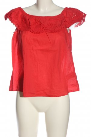 H&M L.O.G.G. Carmen-Bluse rot Casual-Look