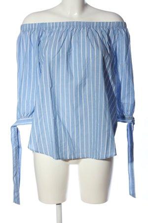 H&M L.O.G.G. Carmen-Bluse blau-weiß Streifenmuster Elegant