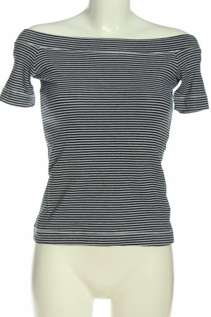 H&M L.O.G.G. Carmen Shirt white-black striped pattern casual look