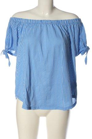 H&M L.O.G.G. Koszula typu carmen niebieski-biały Wzór w paski W stylu casual