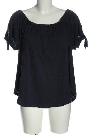 H&M L.O.G.G. Camisa tipo Carmen negro look casual