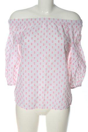 H&M L.O.G.G. Koszula typu carmen biały-różowy Na całej powierzchni