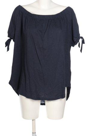 H&M L.O.G.G. Carmen shirt blauw casual uitstraling