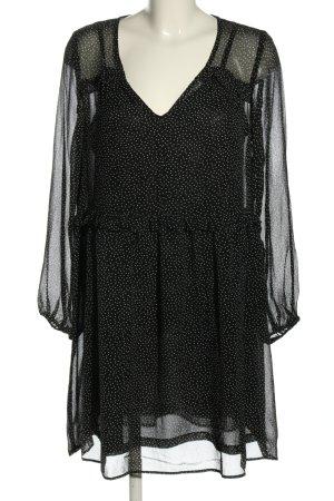 H&M L.O.G.G. Szyfonowa sukienka czarny-biały Wzór w kropki W stylu casual