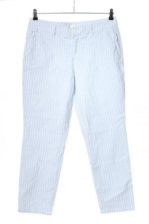 H&M L.O.G.G. Chinosy niebieski-biały Wzór w paski W stylu casual