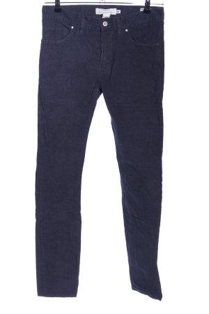 H&M L.O.G.G. Pantalon en velours côtelé bleu style décontracté