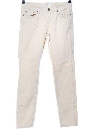 H&M L.O.G.G. Pantalon en velours côtelé blanc cassé style décontracté