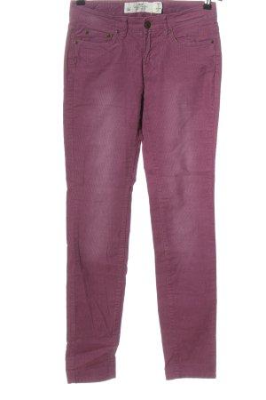 H&M L.O.G.G. Pantalon en velours côtelé violet motif rayé style décontracté