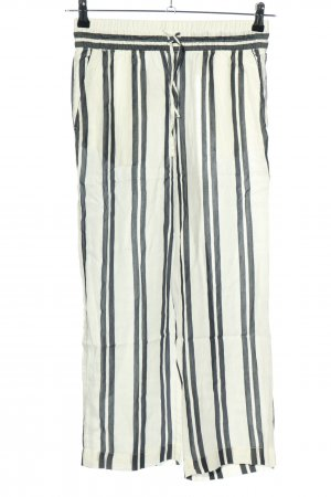 H&M L.O.G.G. Culottes weiß-schwarz Streifenmuster Casual-Look