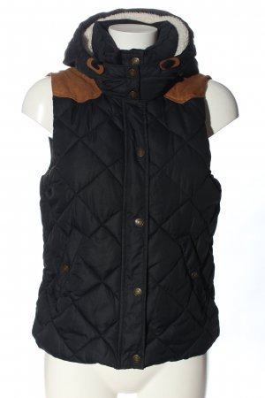 H&M L.O.G.G. Down Vest black-brown quilting pattern casual look
