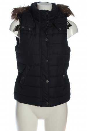 H&M L.O.G.G. Puchowa kamizelka czarny Pikowany wzór W stylu casual