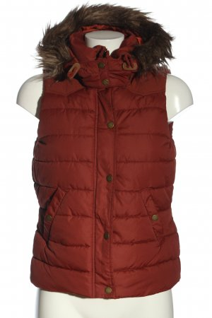 H&M L.O.G.G. Down Vest red quilting pattern casual look