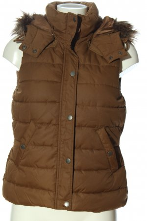 H&M L.O.G.G. Donsvest bruin quilten patroon casual uitstraling