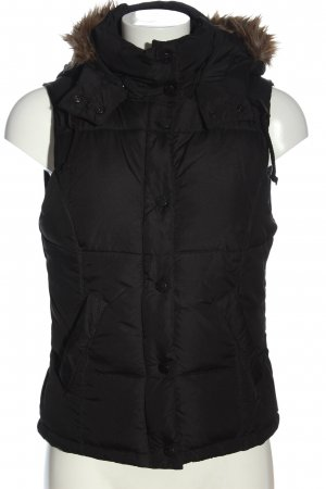 H&M L.O.G.G. Down Vest black quilting pattern casual look