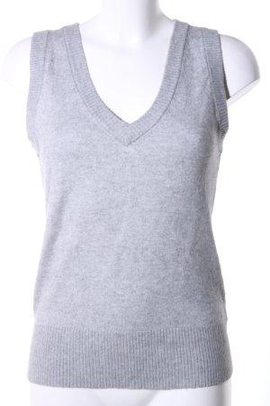 H&M L.O.G.G. Cardigan en maille fine gris clair moucheté style d'affaires
