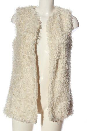 H&M L.O.G.G. Fur vest cream casual look