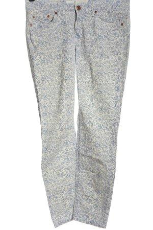 H&M L.O.G.G. Pantalón de cinco bolsillos blanco-azul look casual