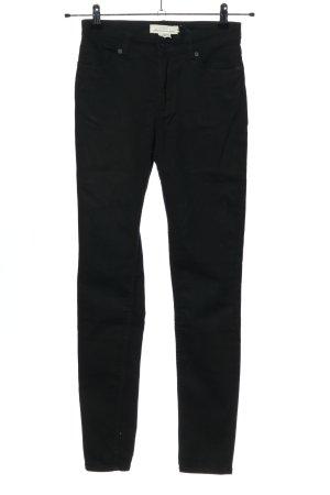 H&M L.O.G.G. Five-Pocket-Hose schwarz Casual-Look