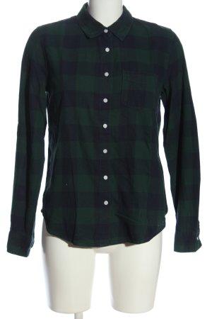 H&M L.O.G.G. Chemise en flanelle vert-bleu motif à carreaux style d'affaires