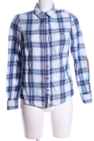 H&M L.O.G.G. Flannel Shirt white-blue allover print casual look