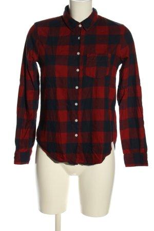 H&M L.O.G.G. Camisa de franela rojo-azul estampado a cuadros look casual