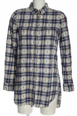 H&M L.O.G.G. Flannel Shirt blue-natural white check pattern casual look