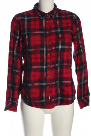 H&M L.O.G.G. Flannel Shirt red-black allover print casual look