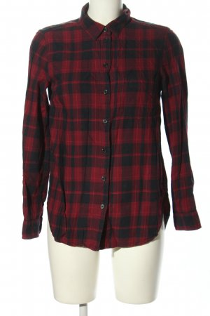 H&M L.O.G.G. Flanellhemd rot-schwarz Karomuster Casual-Look
