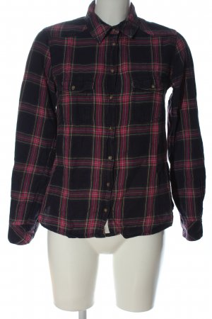 H&M L.O.G.G. Flannel Shirt black-pink check pattern casual look