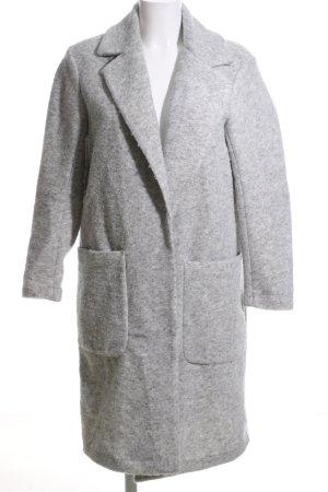 H&M L.O.G.G. Fleece jas lichtgrijs gestippeld casual uitstraling