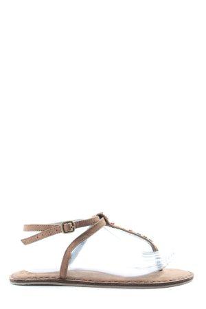 H&M L.O.G.G. Sandalias con talón descubierto marrón look casual