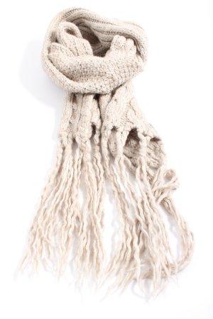 H&M L.O.G.G. Écharpe à franges blanc cassé style décontracté