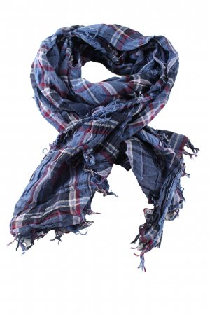 H&M L.O.G.G. Fringed Scarf check pattern casual look