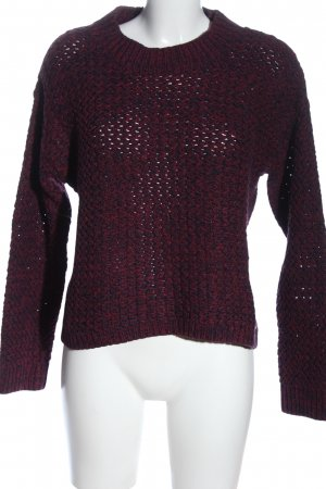 H&M L.O.G.G. Grobstrickpullover blau-rot Webmuster Casual-Look