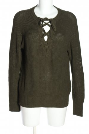 H&M L.O.G.G. Grobstrickpullover khaki Casual-Look