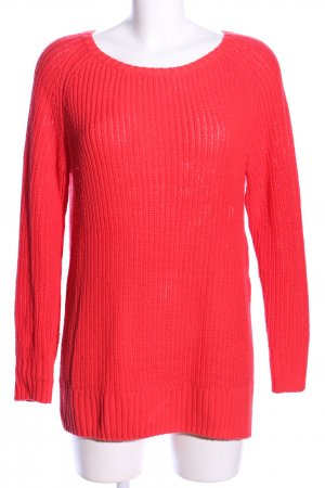 H&M L.O.G.G. Grobstrickpullover rot Casual-Look