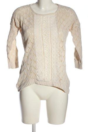 H&M L.O.G.G. Szydełkowany sweter w kolorze białej wełny W stylu casual