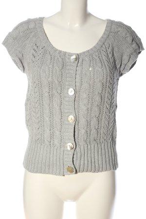 H&M L.O.G.G. Szydełkowany sweter jasnoszary Warkoczowy wzór W stylu casual