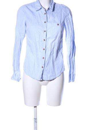 H&M L.O.G.G. Hemd-Bluse blau Casual-Look