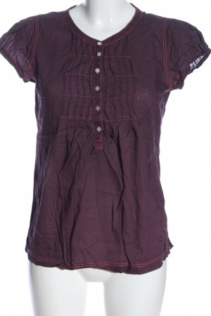 H&M L.O.G.G. Hemd-Bluse lila Casual-Look