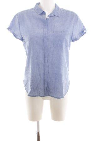 H&M L.O.G.G. Hemd-Bluse blau Webmuster Business-Look