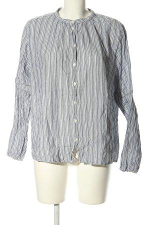 H&M L.O.G.G. Hemd-Bluse weiß-hellgrau Streifenmuster Casual-Look