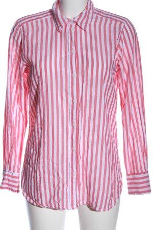 H&M L.O.G.G. Hemd-Bluse weiß-pink Allover-Druck Business-Look
