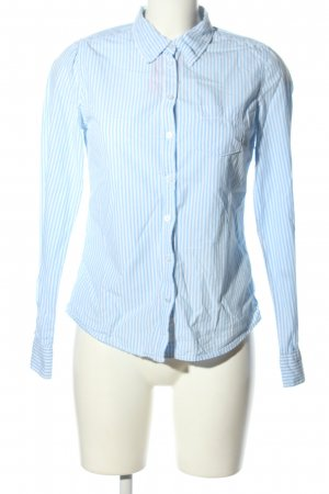 H&M L.O.G.G. Hemd-Bluse blau-weiß Streifenmuster Business-Look