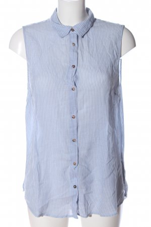 H&M L.O.G.G. Hemd-Bluse blau-weiß Streifenmuster Casual-Look