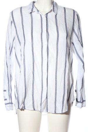 H&M L.O.G.G. Hemd-Bluse weiß-blau Streifenmuster Casual-Look