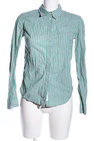 H&M L.O.G.G. Hemd-Bluse grün-pink Streifenmuster Business-Look