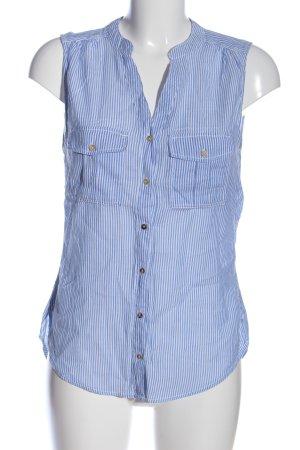 H&M L.O.G.G. Hemd-Bluse blau-hellgrau Streifenmuster Casual-Look