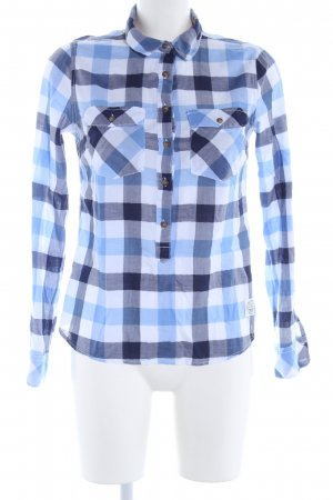 H&M L.O.G.G. Hemd-Bluse blau-weiß Karomuster Casual-Look